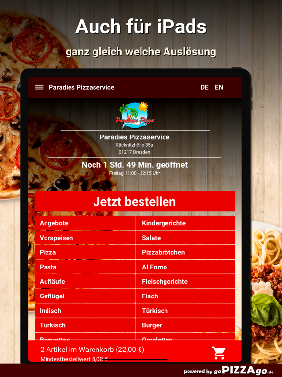 Paradies Pizzaservice Dresden screenshot 7