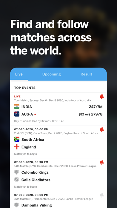 messages.download Cricinfo - Live Cricket Scores software