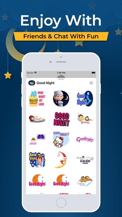 Good Night Typography Stickers screenshot-3