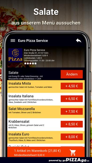 Euro Pizza Service Köln screenshot 5