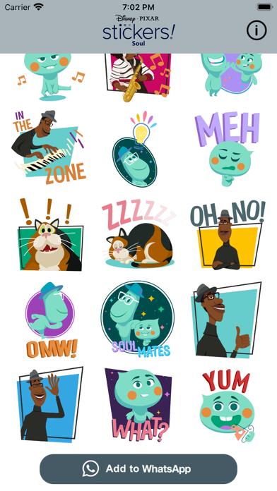 Pixar Stickers: Soul screenshot 2