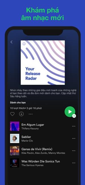 Spotify - Tải xuống album nhạc
