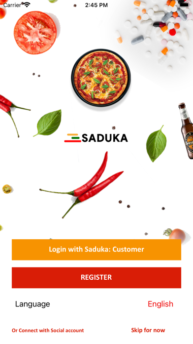 Saduka Customers Screenshot