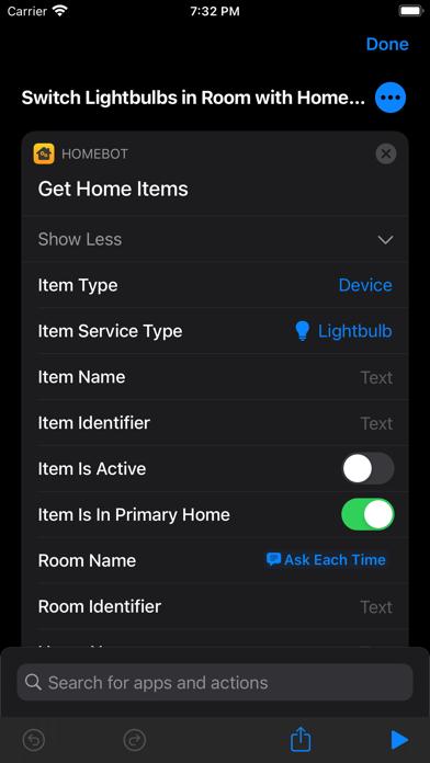 HomeBot for Shortcuts screenshot 2