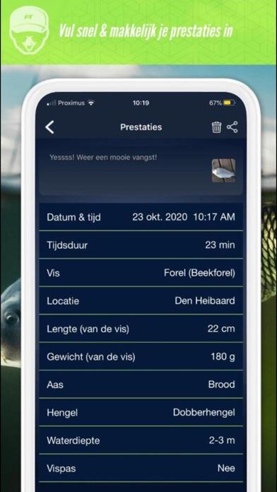 FISH TRACK APP Screenshot