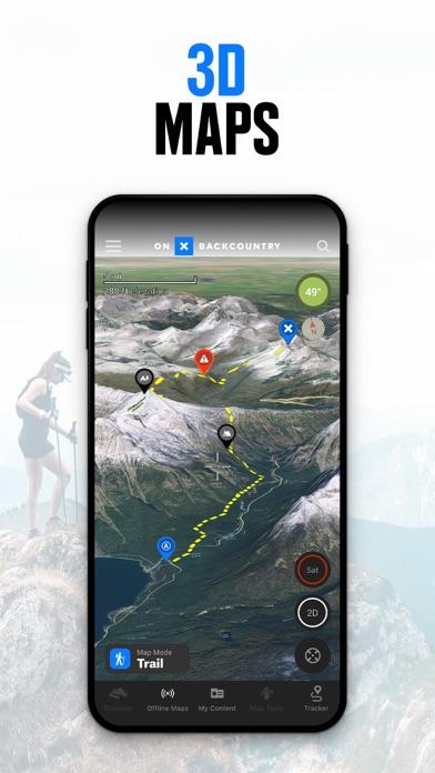onX Backcountry GPS Trail Maps Screenshot