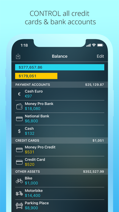 Money Pro: Personal Finance AR Screenshots