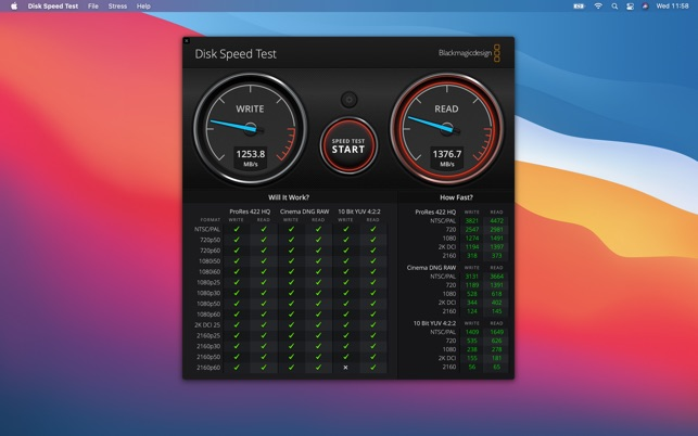Blackmagic Disk Speed Test On The Mac App Store