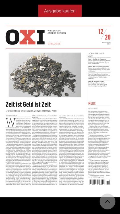 OXI - die Wirtschaftszeitung