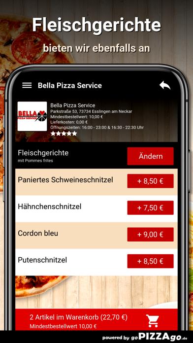 Bella Pizza Service Esslingen screenshot 6
