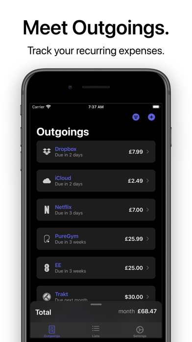messages.download Outgoings - Track Expenses software
