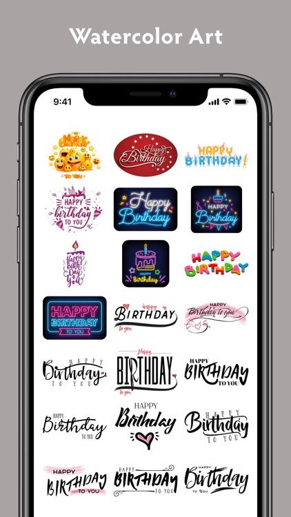 Birthday Stickers #1 screenshot-8