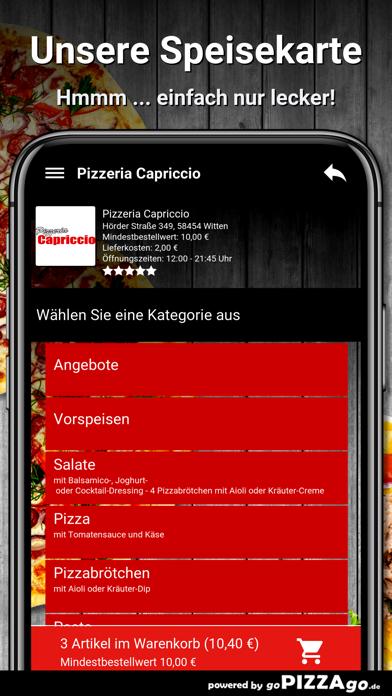 Pizzeria Capriccio Witten screenshot 4