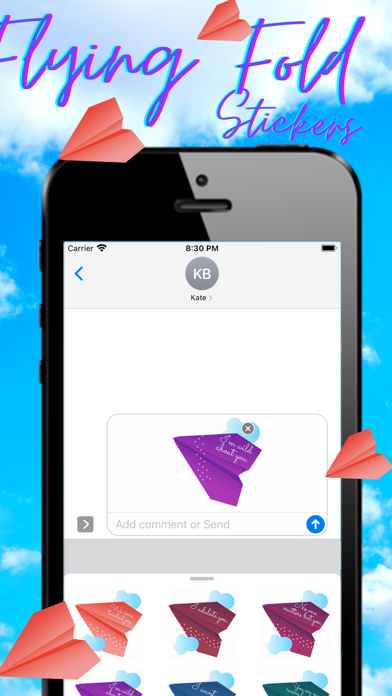 Flying Fold Stickers Screenshot