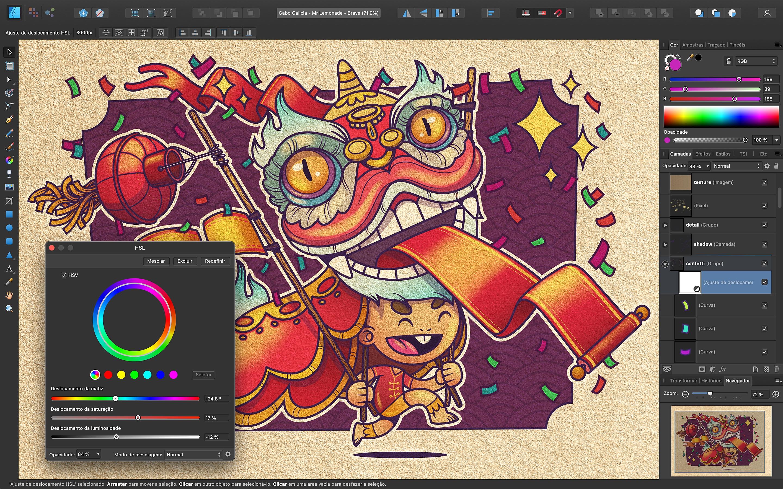 Screenshot do app Affinity Designer