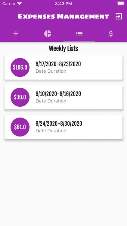 Expenses Management screenshot-5