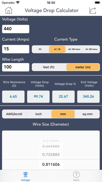 Voltage Drop Calculator. screenshot-4