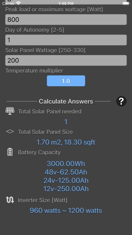 Solar Panel Calculator Plus screenshot-7