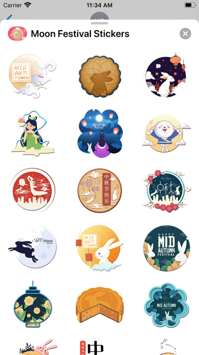 月亮中秋佳节贴图Moon Festival Stickers screenshot 2