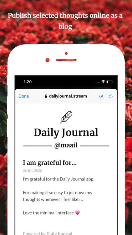 Daily Journal: Publish Online screenshot-3