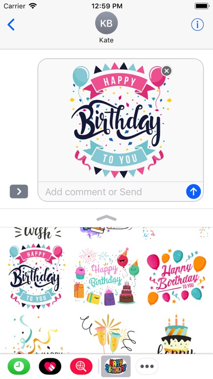 Happy Birthday Stickers 2018 screenshot-4