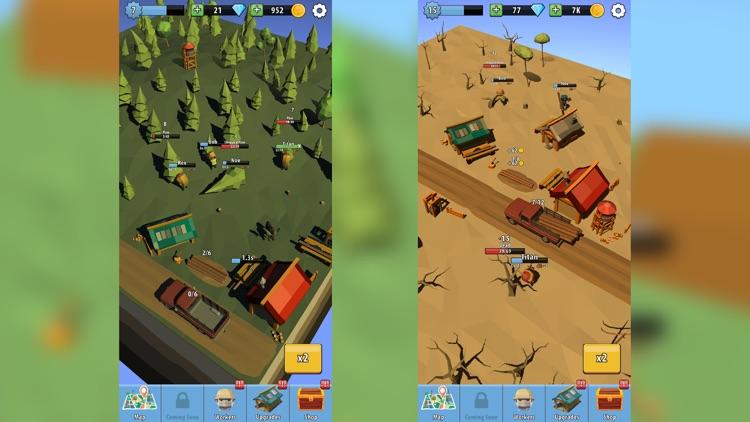 Wood Inc. - 3D Idle Lumberjack screenshot-4