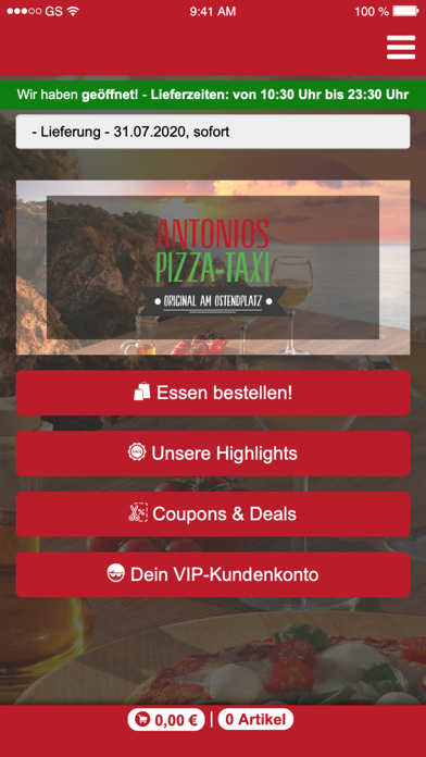 Antonios Pizza-Taxi screenshot 1