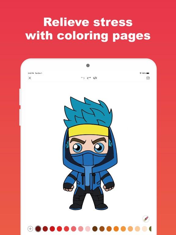 Colortnite: お気に入りの塗り絵アプリのおすすめ画像3