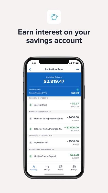 Aspiration Spend, Save, Invest screenshot-4