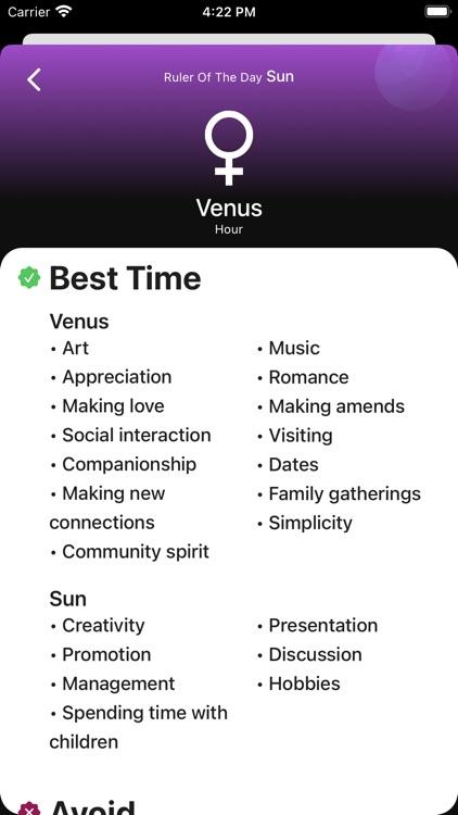 Planetary Hours + Widget screenshot-4