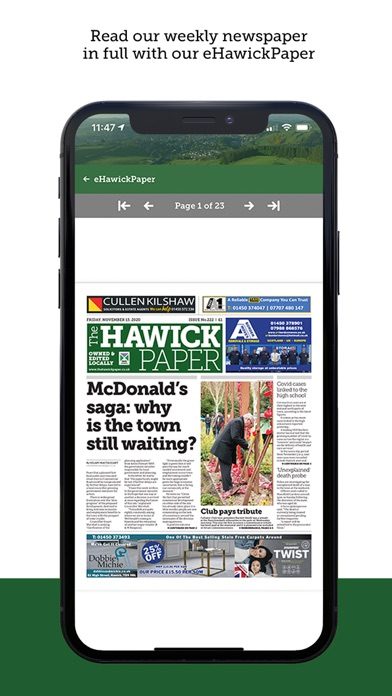 The Hawick PaperScreenshot of 6