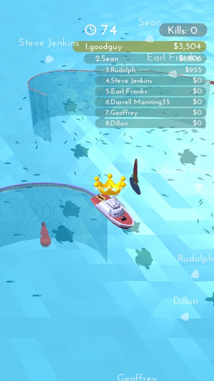 Fishingnet 3D: Battle io game screenshot-4