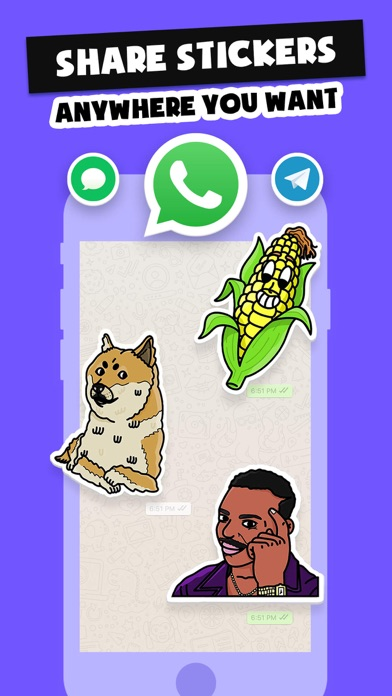 Stickers Funny of Meme & Emoji Screenshot
