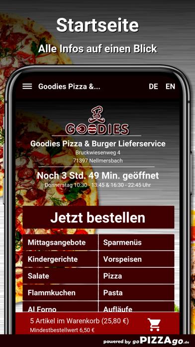 Goodies Pizza Nellmersbach screenshot 2