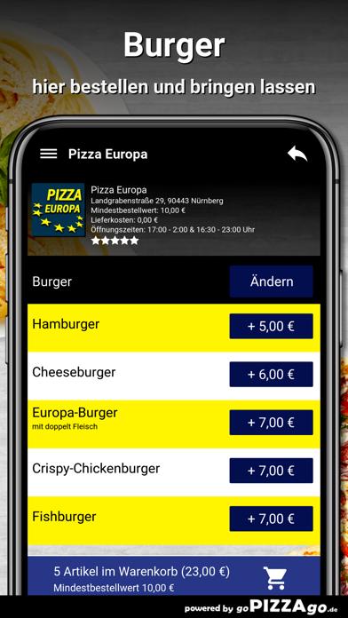 Pizza Europa Nürnberg screenshot 6