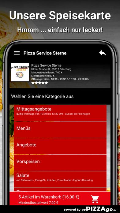 Pizza Service Sterne Günzburg screenshot 4