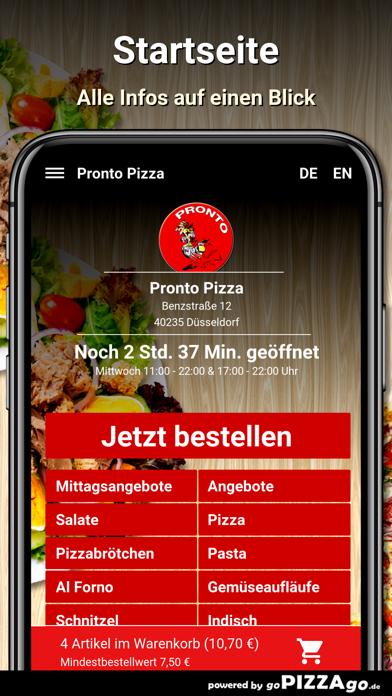 Pronto Pizza Düsseldorf screenshot 2