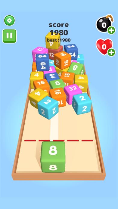 2048 Throw cube - Merge Game screenshot 3