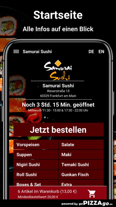 Samurai Sushi Frankfurt screenshot 2