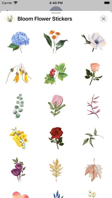 Bloom Flower Stickers screenshot 3