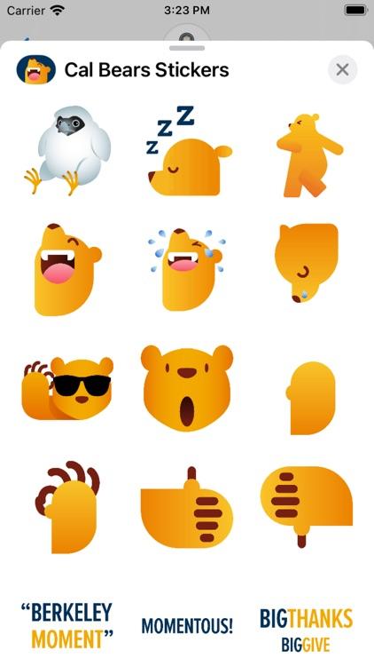 Cal Bears Stickers screenshot-5