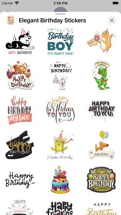 Elegant Birthday Stickers screenshot 3