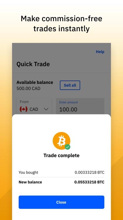 Quick Trade: Buy Crypto Canada