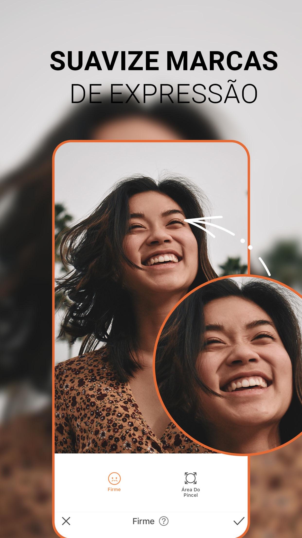 Screenshot do app AirBrush - Editor de fotos
