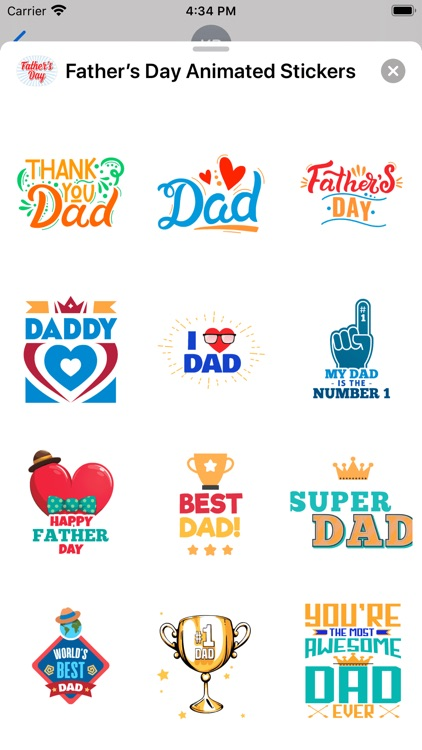 Father's Day Animated Stickers screenshot-4