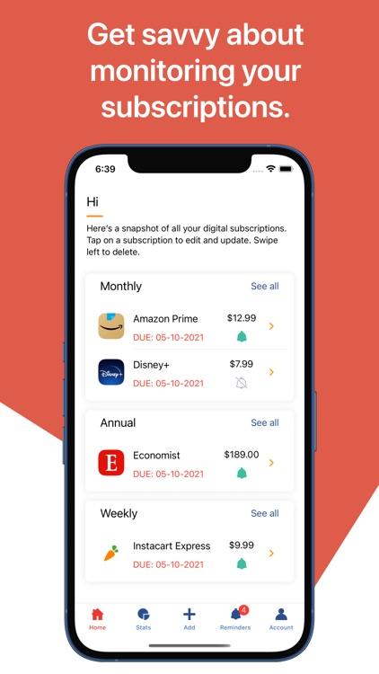 Economize: Track Subscriptions screenshot-4