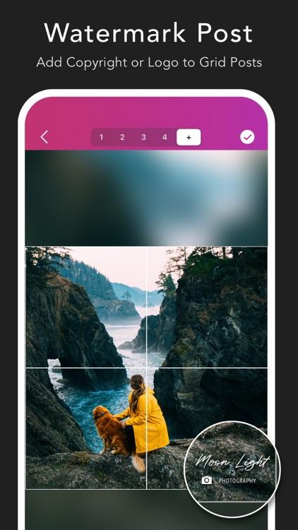Griddy Pro: Split Pic in Grids screenshot-4