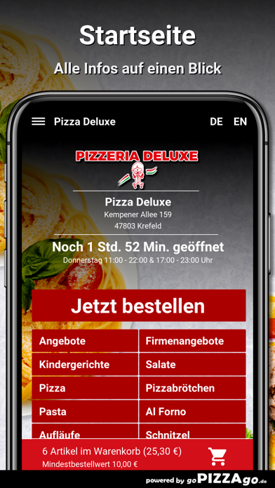 Pizza Deluxe Krefeld screenshot 2