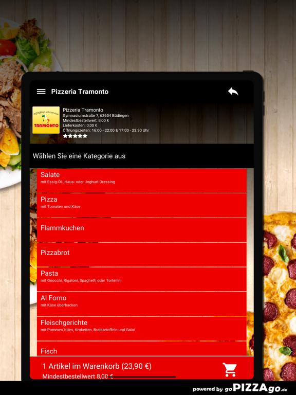 Pizzeria Tramonto Büdingen screenshot 8