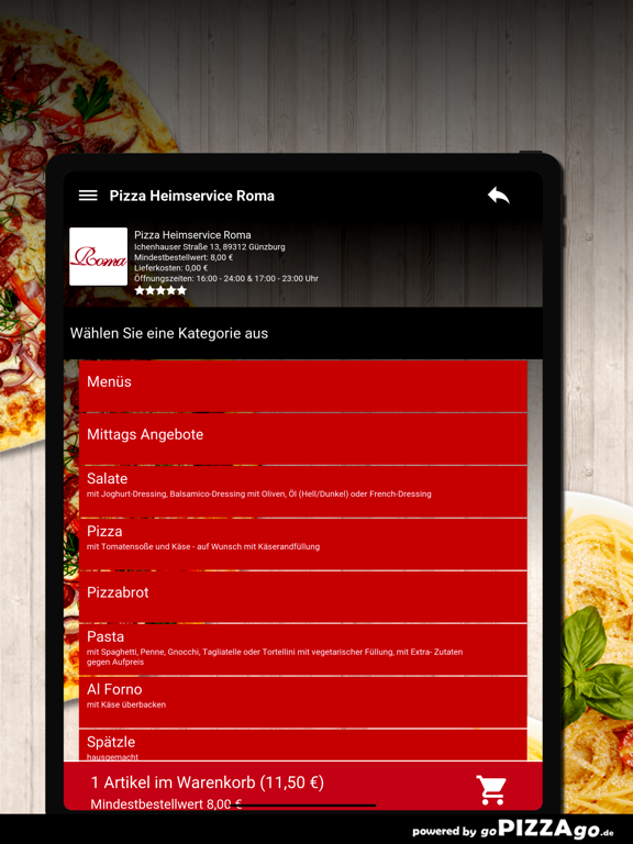 Pizza Roma Günzburg screenshot 8